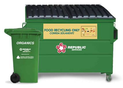 Green Food Recycling Cart and Bin